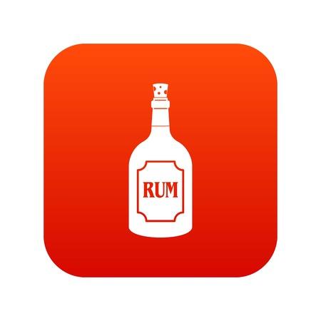 bourbon: Rum icon digital red Illustration
