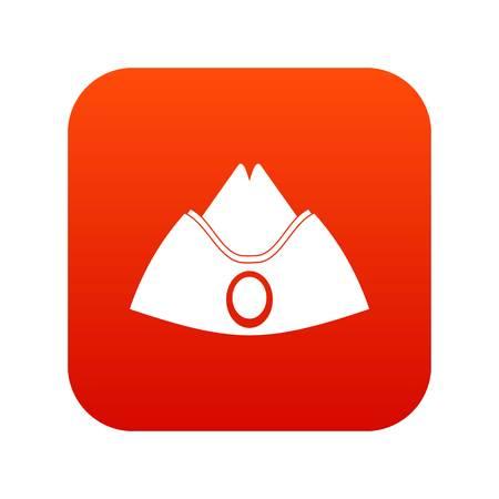 Forage cap icon digital red Çizim