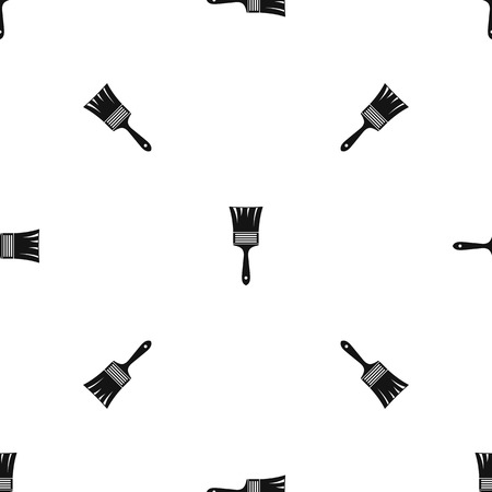 Paint brush pattern repeat seamless in black color for any design. Vector geometric illustration