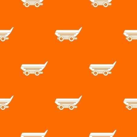 cushy: Car trailer pattern seamless vector illustration.