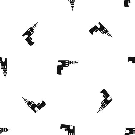 install: Hand drill pattern seamless black