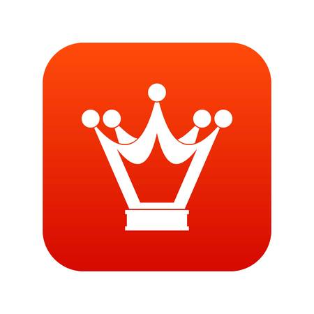 Princess crown icon digital red