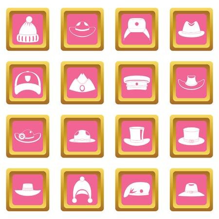warriors: Headdress hat icons pink