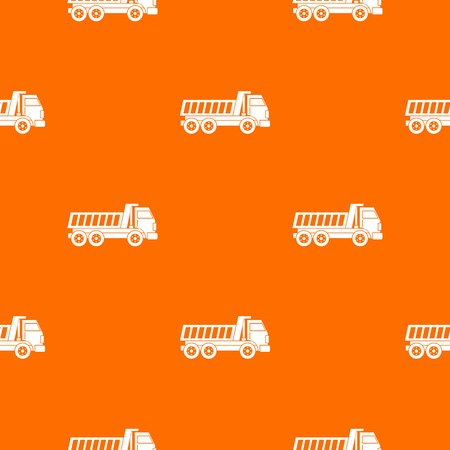 sand quarry: Dumper truck pattern seamless