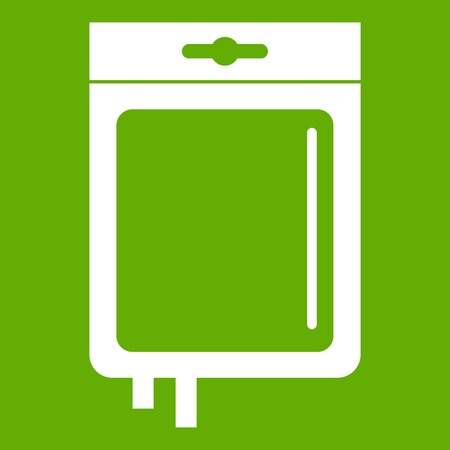 Blood transfusion icon green