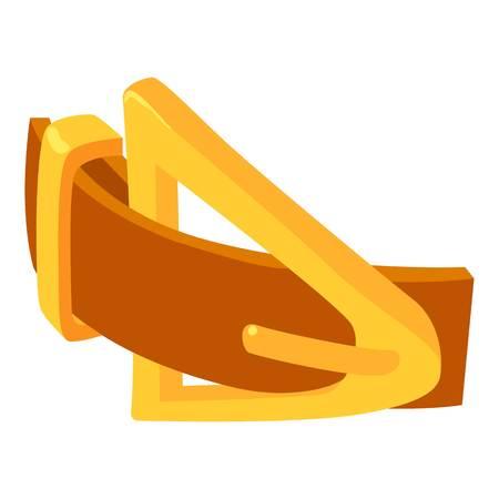 Yellow belt icon, isometric 3d style