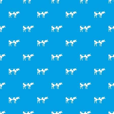 Switzerland cow pattern seamless blue Illustration