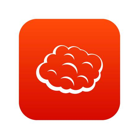Round cloud icon digital red