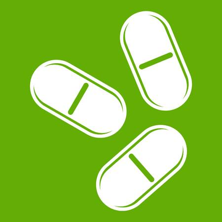Three pills icon green