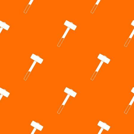 Sledgehammer pattern seamless Illustration