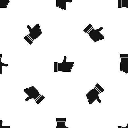 valid: Thumb up sign pattern seamless black