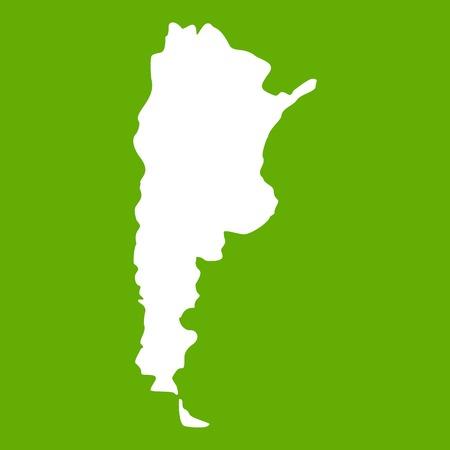 Mapa del icono de Argentina verde Vectores