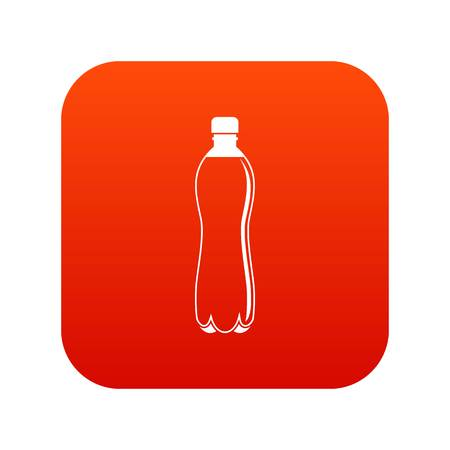 Water bottle icon digital red