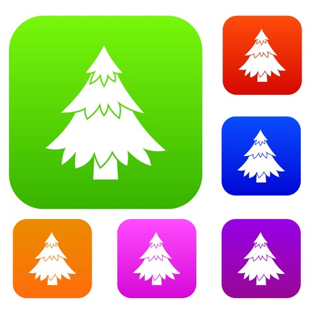 Coniferous tree set collection