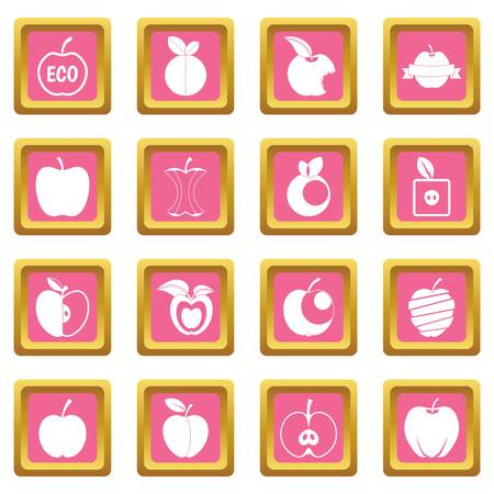 Apple icons pink Illustration