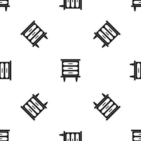nightstand: Nightstand pattern seamless black