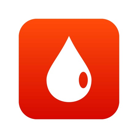 Drop icon digital red