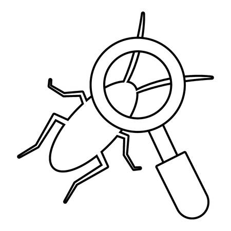 coleoptera: Search insect icon. Outline illustration of search insect vector icon for web