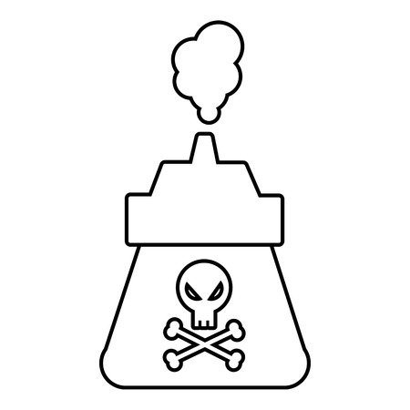 Poison icon. Outline illustration of poison vector icon for web