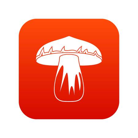 Forest mushroom icon digital red for any design isolated on white vector illustration