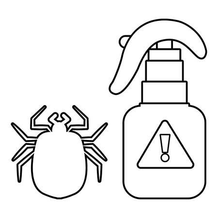 malaria: Spray icon. Outline illustration of spray vector icon for web