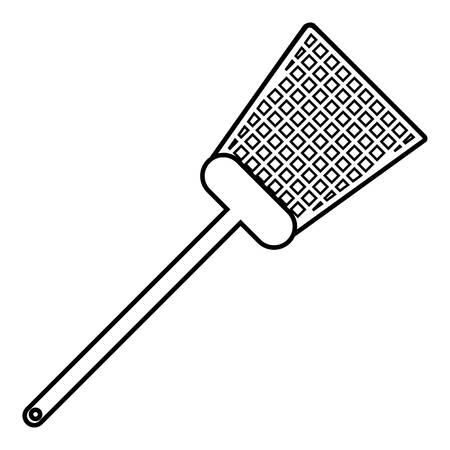 Swatter icon. Outline illustration of swatter vector icon for web Illustration