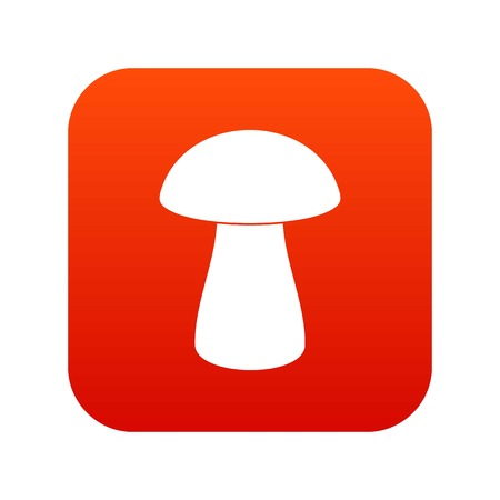 Fungus boletus icon digital red for any design isolated on white vector illustration Illustration