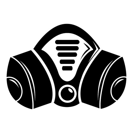 Gas mask icon, simple black style