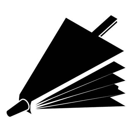 Brandbellowspictogram, eenvoudige zwarte stijl Stock Illustratie