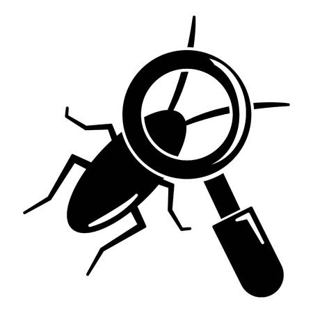 coleoptera: Search insect icon, simple black style
