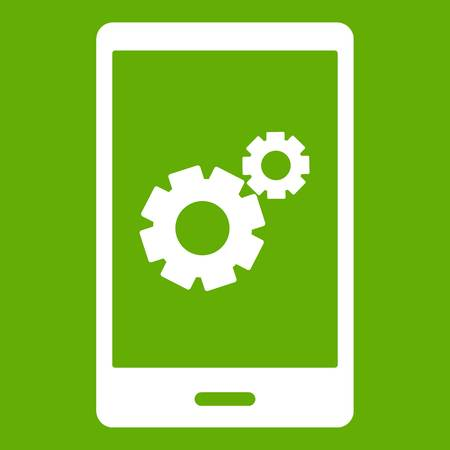 Working phone icon green