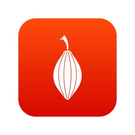 Black cardamom pod icon digital red