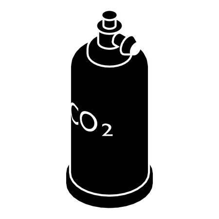 Co2-pictogram van de lascylinder. Eenvoudige illustratie van het pictogram van de lascilinder co2 vector voor Web Stock Illustratie