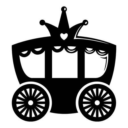 Carriage icon. Simple illustration of carriage vector icon for web Illustration