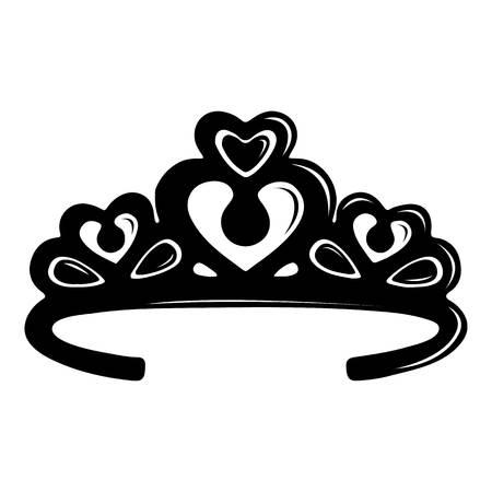 Tiara 왕관 아이콘입니다. 웹에 대 한 티아라 크라운 벡터 아이콘의 간단한 그림
