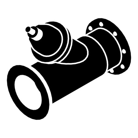 Without tap pipe icon. Simple illustration of without tap pipe vector icon for web