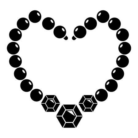Icône du collier Illustration simple de l'icône de vecteur de collier pour le web Banque d'images - 84711245