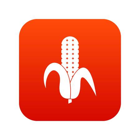 Corncob icon digital red for any design isolated on white vector illustration