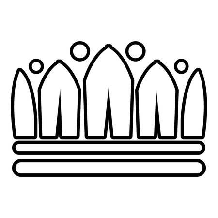Schneekrone-Symbol Umreißen Sie Illustration der empanadas Vektorikone für Netz Standard-Bild - 84711380