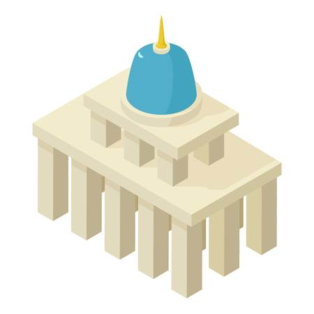 district of columbia: White house icon. Isometric illustration of white house vector icon for web