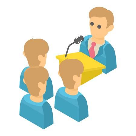 Speaker icon. Isometric illustration of speaker vector icon for web Illustration