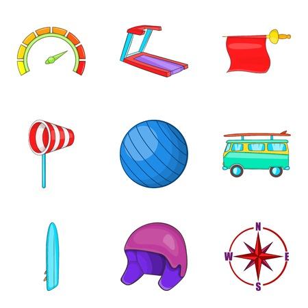 Vigor icons set. Cartoon set of 9 vigor vector icons for web isolated on white background