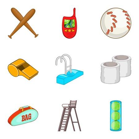 Swipe icons set, cartoon style Illustration