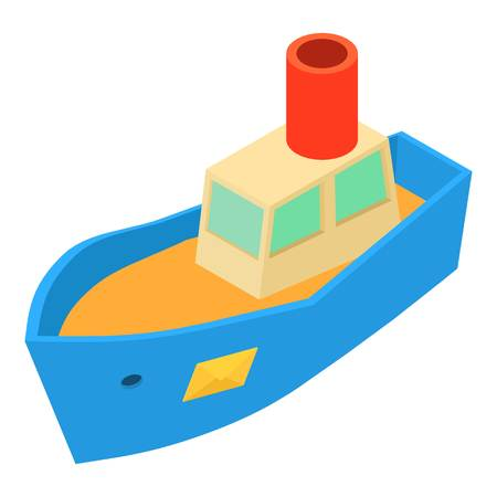 Sea shipping icon, isometric 3d style