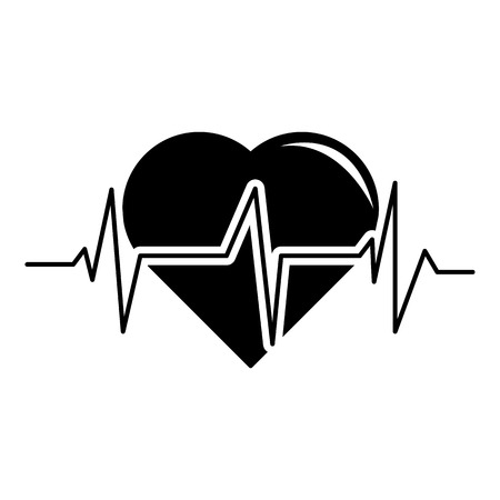 Heart pulse icon. Simple illustration of heart pulse vector icon for web Illustration