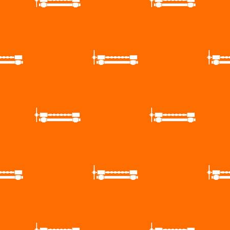 vice grip: Blacksmiths clamp pattern repeat seamless in orange color for any design. Vector geometric illustration Illustration