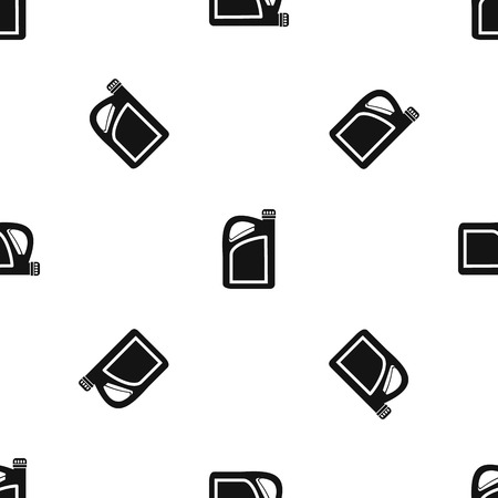 Jerrycan pattern repeat seamless in black color for any design. Vector geometric illustration