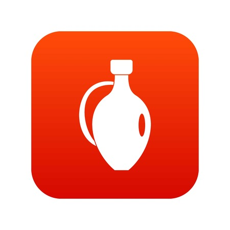 earthenware: Clay jug icon digital red for any design isolated on white vector illustration