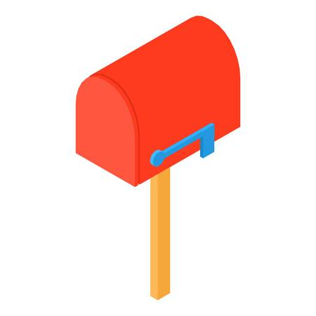 Close mailbox icon, isometric 3d style Иллюстрация