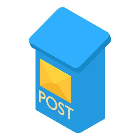 Mailbox icon, isometric 3d style